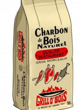 2 Sacs Charbon de bois 50 L